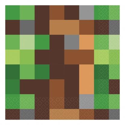 """Popierinės servetėlės """"Minecraft"""" (16 vnt.)"""