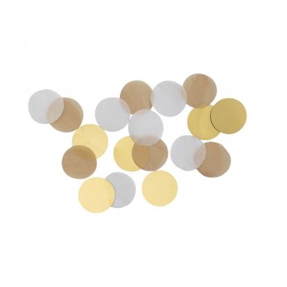 Popieriniai konfeti, rusvai auksiniai (15 g)