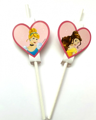 """Popieriniai šiaudeliai """"Disney princesės"""" (4 vnt.)"""