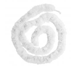 Pūkuotas boa, baltas (180 cm)