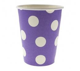 """Puodeliai """"Burbuliukai"""", violetiniai (6 vnt./ 270 ml)"""