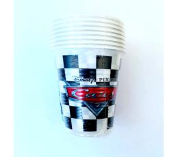 """Plastikiniai puodeliai """"Cars Racers"""" (8 vnt./200 ml)"""