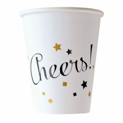 """Puodeliai """"Cheers"""" (8 vnt./266 ml)"""