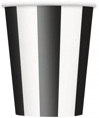 Puodeliai, juodai dryžuoti (6 vnt./355 ml)