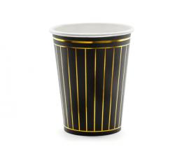 Puodeliai, juodi auksiniai dryžuoti (6 vnt./260 ml)