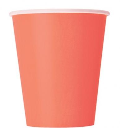 Puodeliai, koraliniai (14 vnt./270 ml)