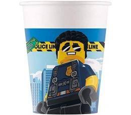 """Puodeliai """"Lego City"""" (8 vnt./200 ml)"""