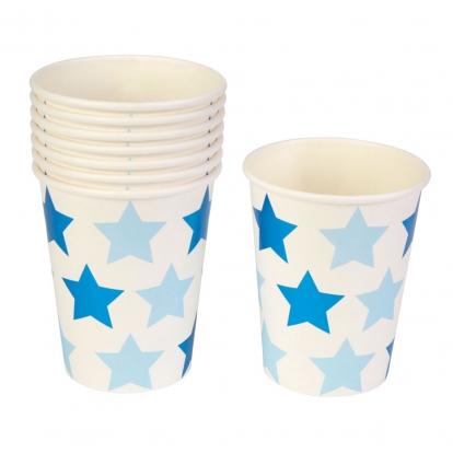 """Puodeliai """"Mėlynos žvaigždutės"""" (8 vnt./250 ml)"""