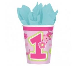 """Puodeliai """"Mergaitė 1"""", rožiniai (8 vnt./266 ml)"""