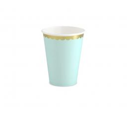 Puodeliai, mėtiniai aukso krašteliu (6 vnt./220 ml)