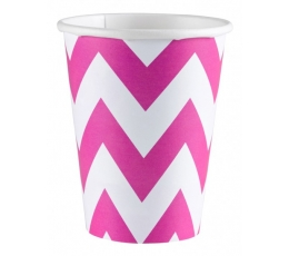 """Puodeliai """"Rožiniai zigzagai"""" (8 vnt./266 ml)"""
