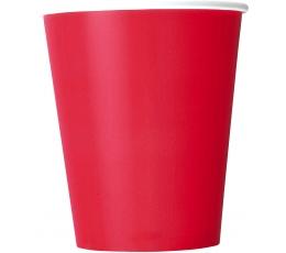 Puodeliai, skaisčiai raudoni (8 vnt./270 ml)