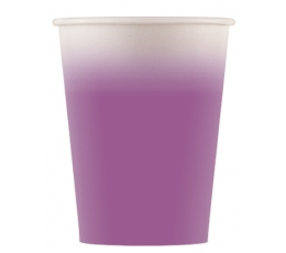 Puodeliai, violetiniai ombre (8 vnt./200 ml)