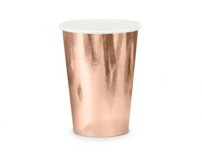 Puodeliai, rožinio aukso spalvos (6 vnt./220 ml)