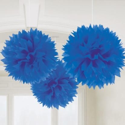Puručiai, mėlyni (3vnt./40 cm)