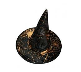 Raganos skrybėlė/juoda su auksu