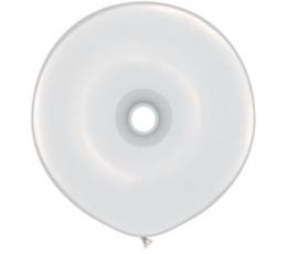 Ratuko formos balionas, baltas (41cm)