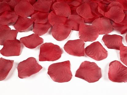 Rožių žiedlapiai, raudoni (dirbtiniai) (500 vnt.)