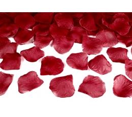 Rožių žiedlapiai, tamsiai raudoni (dirbtiniai) (500 vnt.)