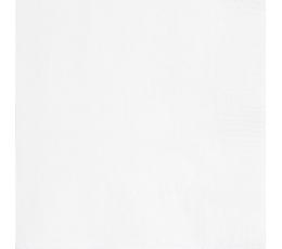 Servetėlės, baltos (20 vnt./33x33 cm)
