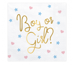 "Servetėlės ""Boy or Girl"" (20 vnt.)"
