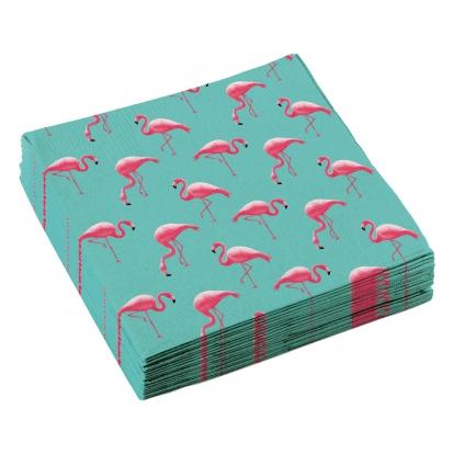 """Servetėlės """"Rožiniai flamingai"""" (20 vnt.)"""