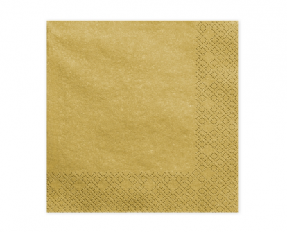 Servetėlės, auksinės blizgios (20 vnt.)