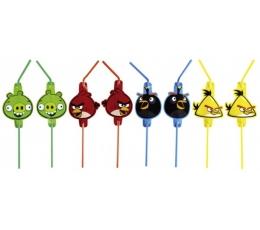 """Šiaudeliai """"Angry Birds"""" (8 vnt.)"""