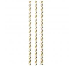 Šiaudeliai, auksiniai dryžuoti- lankstūs (24 vnt.)