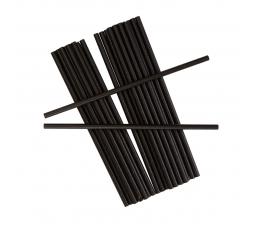 Šiaudeliai, juodi (25 vnt.)