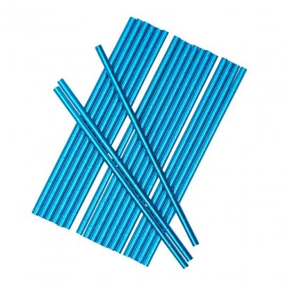 Šiaudeliai, mėlyni blizgūs (25 vnt.)