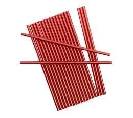 Šiaudeliai, raudoni blizgūs (25 vnt.)