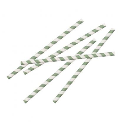 Šiaudeliai, žaliai dryžuoti (20 vnt.)