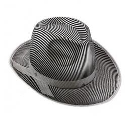 Sidabrinė dryžuota skrybėlė (1 vnt.)