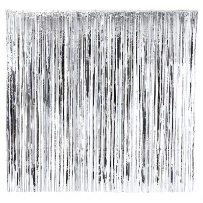 Sidabro folijos užuolaida (2x2 m)