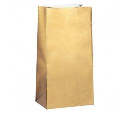 Skanėstų-dovanų maišeliai, auksiniai popieriniai (10 vnt.)