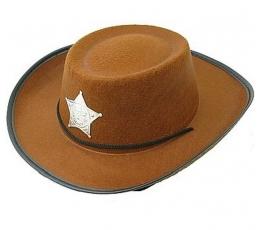 """Skrybėlė """"Šerifas"""" / ruda (1 vnt.)"""