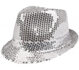 Skrybėlė, žvilganti sidabrinė