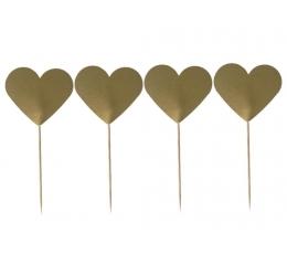 """Smeigtukai """"Auksinės širdelės"""" (8 vnt./9 cm.)"""