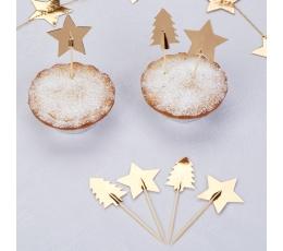 """Smeigtukai-dekoracijos """"Auksinės Kalėdos"""" (20 vnt.)"""