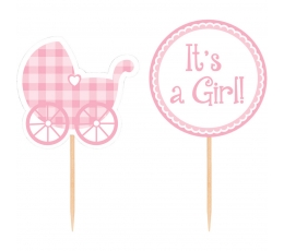 "Smeigtukai-dekoracijos ""It's A Girl"" (12 vnt.)"