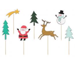 """Smeigtukai-dekoracijos """"Kalėdos"""" (7 vnt.)"""
