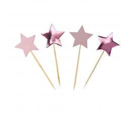 "Smeigtukai-dekoracijos ""Rausvos žvaigždutės"" (20 vnt.)"