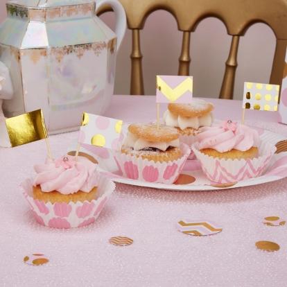 Smeigtukai-dekoracijos, rožiniai auksiniai (20 vnt.)