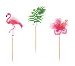 """Smeigtukai-dekoracijos """"Rožiniai flamingai"""" (10 vnt.)"""