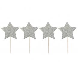 """Smeigtukai """"Sidabrinės žvaigždės"""" (8 vnt./9 cm.)"""
