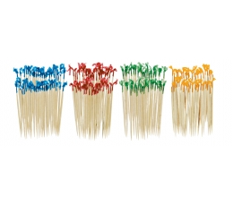 Smeigtukai užkandžiams, spalvoti (130 vnt.)