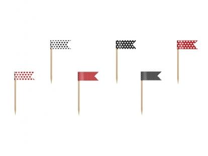 Smeigtukai-vėliavėlės, raudonai juodi (6 vnt.)