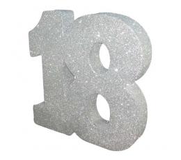 "Stalo dekoracija, sidabrinė ""18"" (20 cm)"