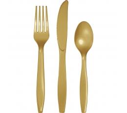 Stalo įrankių rinkinys, auksinis (8-iems asmenims)